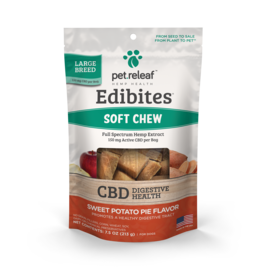 Pet Releaf Pet Releaf Edibites Soft Chews | CBD Digestive Health Sweet Potato Pie Large Breed 7.5 oz