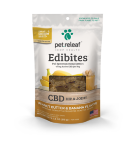 Pet Releaf Pet Releaf Edibites | CBD Hip & Joint Peanut Butter & Banana 7.5 oz