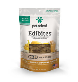Pet Releaf Pet Releaf Edibites | CBD Hip & Joint Peanut Butter & Banana Large Breed 7.5 oz