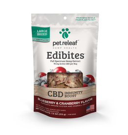 Pet Releaf Pet Releaf Edibites | CBD Immunity Boost Blueberry & Cranberry Large Breed 7.5 oz