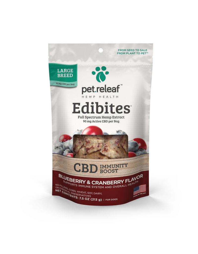 Pet Releaf Pet Releaf Edibites | CBD Immunity Boost Blueberry & Cranberry Large Breed 7.5 oz