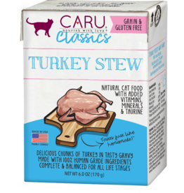 Caru Caru Cat Classic Stew Turkey 6 oz single
