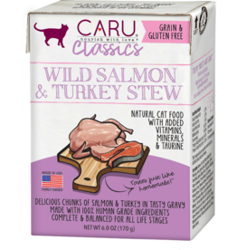 Caru Caru Cat Classic Stew Salmon & Turkey 6 oz CASE