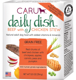 Caru Caru Dog Daily Dish Stew Beef & Chicken 12.5 oz CASE