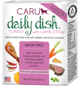 Caru Caru Dog Daily Dish Stew Turkey & Lamb 12.5 oz CASE