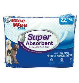 "Four Paws Four Paws Wee Wee Pads Super Absorbent 24"" x 24"" 22 ct"