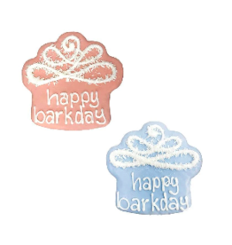 Bosco and Roxy's Bosco & Roxy's Bark-Day Collection | Happy Bark-Day Cupcake Blue or Pink single