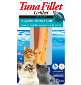 Inaba Inaba Fillets Cat Treats Tuna in Calamari Broth 0.52 oz single