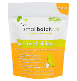 Smallbatch Pets Smallbatch Frozen Cat Food 1 oz Sliders    Pork 3 lbs (*Frozen Products for Local Delivery or In-Store Pickup Only. *)