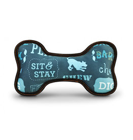 PLAY P.L.A.Y. Dog Toys Eco Bone Dog's Life Blue Medium
