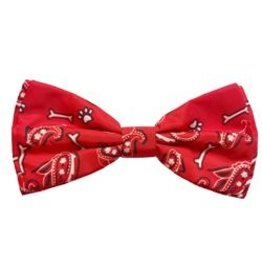 Huxley & Kent Huxley & Kent Bow Tie | Bone-Dana Red Small