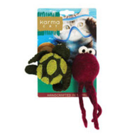 Distinctly Himalayan Distinctly Himalayan Cat Toy Turtle & Jellyfish 2 pack