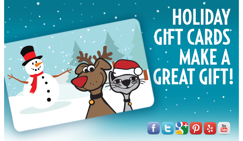 Tis The Season...For GivingGift Cards To All The Pet Lovers On Your List