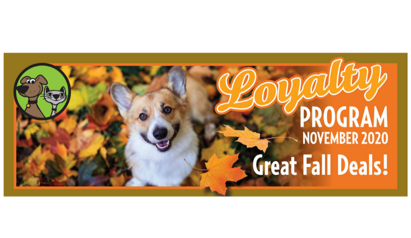 November Dog & Cat Food & Treats Loyalty Program Specials Have Arrived!