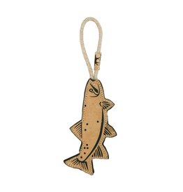 Tall Tails Tall Tails Dog Toy | Natural Leather & Wool Trout 16 in