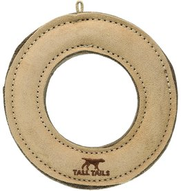 Tall Tails Tall Tails Dog Toy | Natural Leather & Wool Ring 7 in