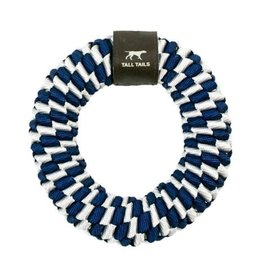 Tall Tails Tall Tails Dog Toy Braided Ring Navy 6 in