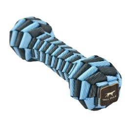 Tall Tails Tall Tails Dog Toy Braided Bone Blue & Charcoal 9 in