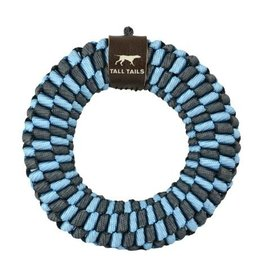 Tall Tails Tall Tails Dog Toy Braided Ring Blue & Charcoal 6 in