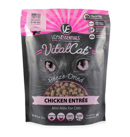 Vital Essentials Vital Essentials Freeze Dried Cat Food Mini Nibs Chicken Entree 12 oz