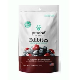 Pet Releaf Pet Releaf Edibites Trial Size Blueberry & Cranberry 2.25 oz