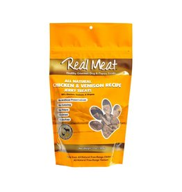 Real Meat Real Meat Dog Jerky Treats Chicken and Venison Jerky Large Bitz 12 oz
