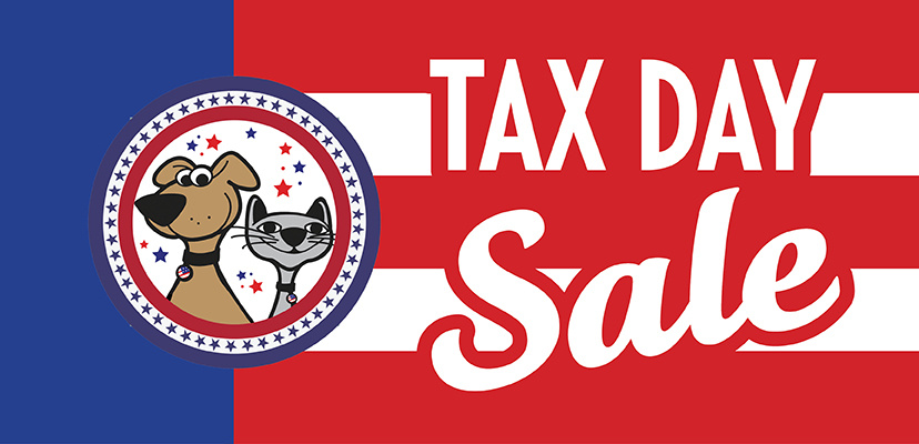 20% off Annual Tax Day Pet Food Sale