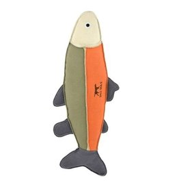 Tall Tails Tall Tails Dog Toy Canvas Fish Sage & Orange 12 in