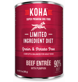 Koha Koha Canned Dog Food CASE Beef Entree 13 oz