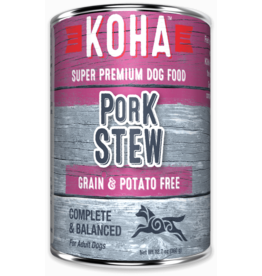 Koha Koha Canned Dog Food CASE Pork Stew 12.7 oz