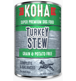 Koha Koha Canned Dog Food CASE Turkey Stew 12.7 oz