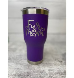 The Pet Beastro The Pet Beastro Tumbler | Fur Mom Purple Motto Logo