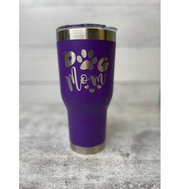 The Pet Beastro Tumbler | Dog Mom Purple Motto Logo