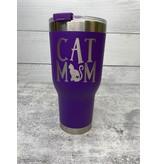 The Pet Beastro The Pet Beastro Tumbler | Cat Mom Purple Motto Logo
