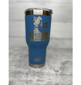 The Pet Beastro The Pet Beastro Tumbler | Fur Mom Blue Motto Logo