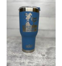 The Pet Beastro Tumbler | Fur Mom Blue Motto Logo