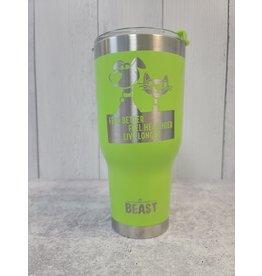 The Pet Beastro Tumbler | Fur Mom Green Motto Logo