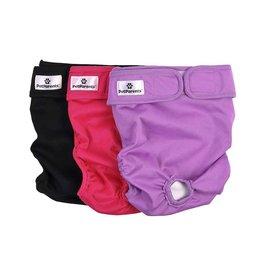 Pet Parents Pet Parents Reusable Diapers | Princess Pack Extra Large (XL) 3 pk
