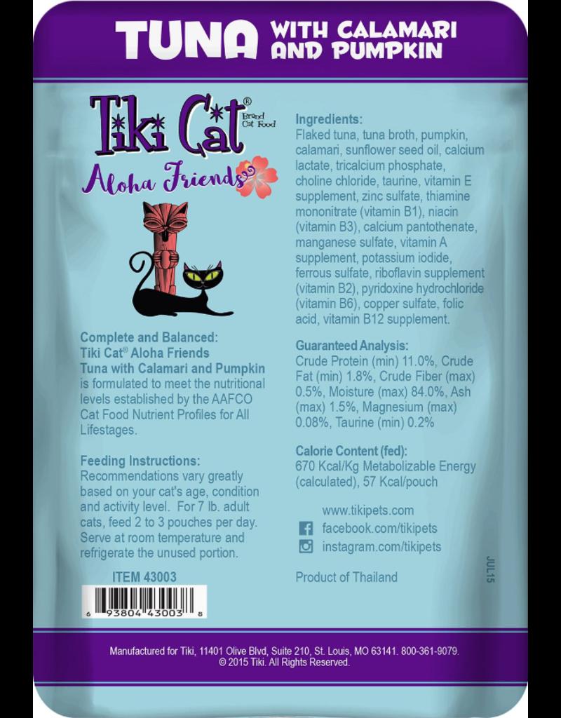 Tiki Cat Tiki Cat Aloha Friends Pouches Tuna w/ Calamari & Pumpkin 3 oz CASE
