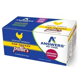Answer's Pet Food Answers Frozen Dog Food Detailed Chicken 8 oz Patties 4 lbs (*Frozen Products for Local Delivery or In-Store Pickup Only. *)