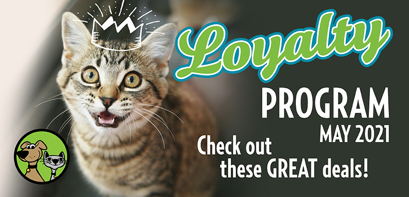 May Pet Food & Treats Loyalty Program Savings For Your Cat Or Dog