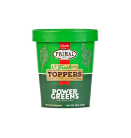 Primal Pet Foods Primal Frozen Edible Elixirs Fresh Toppers | Healthy Green Smoothie Power Greens 16 oz CASE (*Frozen Products for Local Delivery or In-Store Pickup Only. *)