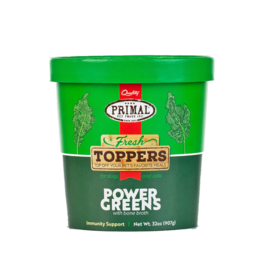 Primal Pet Foods Primal Frozen Edible Elixirs Fresh Toppers | Healthy Green Smoothie Power Greens 32 oz CASE (*Frozen Products for Local Delivery or In-Store Pickup Only. *)