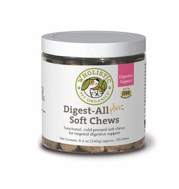 Wholistic Pet Organics Wholistic Pet Organics Digest All Plus Large Breed Soft Chews 120 ct