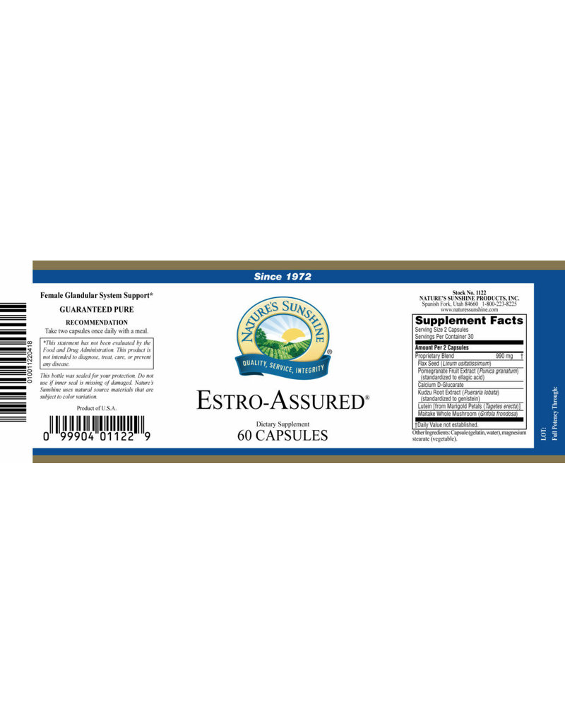 Nature's Sunshine Nature's Sunshine Supplements Estro-Assured (Breast Assured) 60 capsules