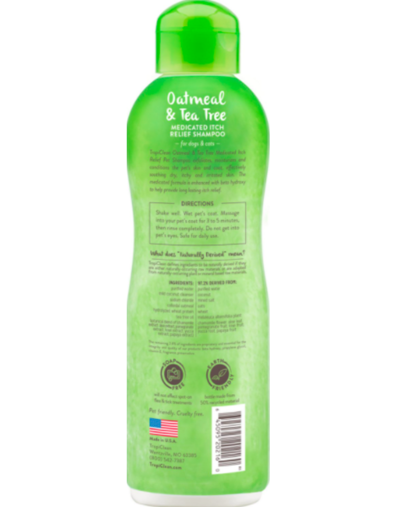 Tropiclean Tropiclean Pet Shampoo Medicated Itch Relief Oatmeal & Tea Tree 20 oz