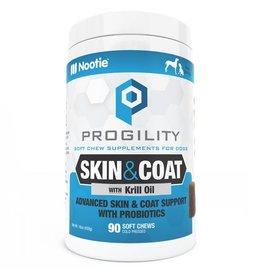 Nootie Nootie Progility Dog Soft Chews Skin & Coat 90 ct