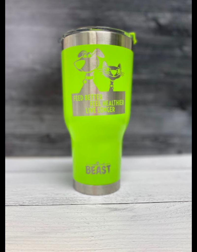 The Pet Beastro The Pet Beastro Tumbler | Cat Dad Green Motto Logo