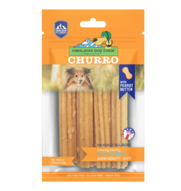 Himalayan Dog Chew Himalayan Dog Chew Yaky Churro Peanut Butter 4 ct 4 oz