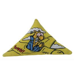 Yeowww! Yeowww! Cat Toys Purr Muda Triangle Yellow single